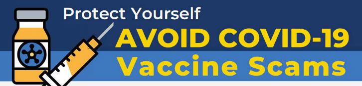 AVOID COVID-19 Vaccine Scams